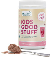 All-in-one nutritional support for Children's growing bodies, made from real fruit and veg, with protein, calcium, probiotics and more