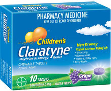 Grape Flavoured Chewable Tablet Formulated for Ages 2 Years to Adult for Allergies and Hayfever