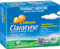Claratyne Children's 5mg Hayfever & Allergy Relief Grape Chewable Tablets 10