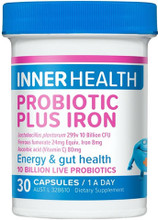 Contains Probiotic Lactobacillus plantarum 299v with Iron and Vitamin C for Energy and Gut Health