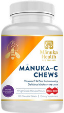 Chewable Tablets Containing a Delicious Combination of High Grade MGO 400+ Manuka Honey with Essential Immune Nutrients Vitamin C and Zinc to Support Your Immunity