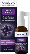 Contains antioxidant rich Black Elderberries with Echinacea, Kava, Zinc and Manuka Honey to help coat and soothe the throat