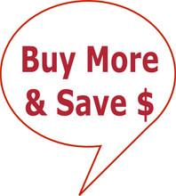 Every time you buy more than one product from us you'll save money per item - the more you buy the more you save.