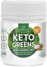 Provides easy super greens nutrition with MCT for energy, body fuel and vitality support
