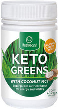 Lifestream Keto Greens with Coconut MCT is a blend of certified organic Barley and Wheat grass grown in the South Island sunshine on the Canterbury Plains of New Zealand with the added goodness of MCT