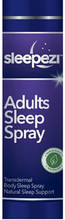 A clear and unscented gentle topical sleep support spray, that gradually releases magnesium and oils directly into the body