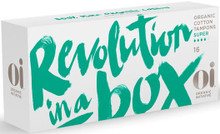 100% certified organic cotton; 100% biodegradable and recyclable individual box packs