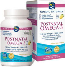 Nordic Naturals Postnatal Omega-3 is specifically formulated to address the unique needs of new mums, offering EPA and Vitamin D3 to support a positive mood and optimal wellness after childbirth