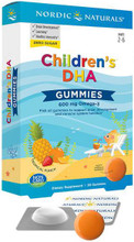 Children's DHA™ Gummies pack a substantial 600 mg daily serving of omega-3s into tasty, tropical punch flavor omega-3 gummies to support healthy brain development and learning