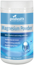 Goodhealth Organic Magnesium powder contains a high dose of 350mg magnesium per serve to soothe muscle tension, support quality sleep, pre-menstrual health, heart health and bone health