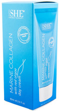 Lightweight Face Cream Formulated with Marine Collagen, Marine Extracts of Red Algae and Seaweed, and Rosehip Oil