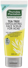 Provides triple exfoliating benefits of ground Tea Tree leaves, Apricot shell powder and Papain