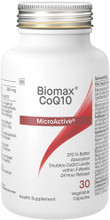 BioMaxCoQ10® uses a patented water-soluble MicroActive® CoQ10 which is easily absorbed (with 370 percent better absorption than crystalline CoQ10) and highly bioavailable.