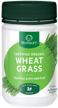 100% Pure Certified Organic Wheat Grass Powder Made From the Leaves of Young Wheat Grass Plants (Triticum Aestivum), Grown in New Zealand