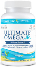 Provides a potent, kid-sized serving of omega-3s to benefit brain health, mood, and learning, in a smaller, strawberry-flavored soft gel that's easy to swallow or chew.