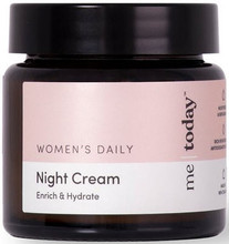 Me Today Women's Night Cream is enriched with 9 essential botanicals, antioxidants and vitamins, blended specially for all skin types to deeply moisturise and replenishe, leaving your face extra soft and plump