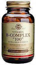 """Solgar B-Complex """"100"""" Contains a Comprehensive Combination of the B group Vitamins, Needed for the Metabolism of Carbohydrates, Fats and Proteins, Which Convert Food into Energy"""