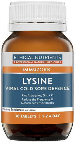 Ethical Nutrients Lysine Viral Cold Sore Defence Tablets 30