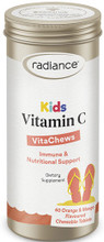 Provides Vitamin C with Bioflavonoids in a Delicious Natural Orange and Mango Chewable Tablet
