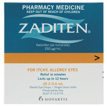 Ketotifen Eye Drops Provided as Single Dose Units For Relief of Itchy Allergy Eyes