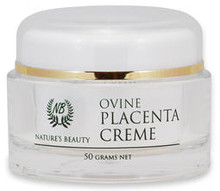 Anti-Wrinkle Placenta Cream Enriched with Extra Placenta, Aloe Vera, Bee Propolis, Lanolin, Vitamins B5, C, E and Sunscreen to Protect the New Skin