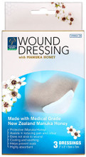 Wound dressings Containing a Unique Natural Hydrogel with Sterile Medical Grade Manuka Honey