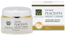 Restorative Night Creme Enriched with Jojoba Oil, Macadamia Nut Oil, Shea Butter, Aloe Vera, Vitamin E and Ovine Placenta
