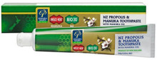 Natural Toothpaste containing BIO30™ New Zealand Propolis, High Grade MGO™ 400+ Manuka Honey and Manuka Oil with Natural Plant Extracts