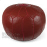 Garnet Moroccan Leather Pouf