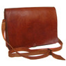 Handmade Leather Messenger bag / Briefcase In Tan