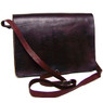 Handmade Leather Messenger bag / Briefcase In Chocolate