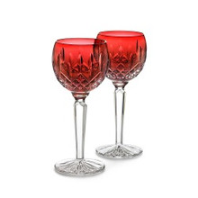Lismore Barware Crimson Hock Wine Pair
