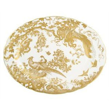 """Royal Crown Derby Gold Aves Oval Platter 15"""""""