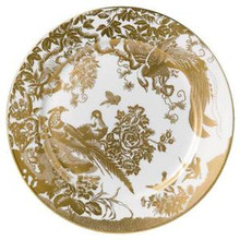 Royal Crown Derby Gold Aves Round Chop Dish 13.8""