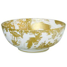 Royal Crown Derby Gold Aves Round Salad Bowl 9.6""