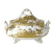 Royal Crown Derby Gold Aves Covered Vegetable Dish 1.90 Ltr.