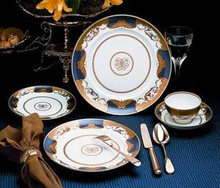 Mottahedeh Golden Butterfly 5 Piece Place Setting