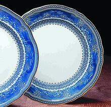 Mottahedeh Mandarin Bouquet Dinner Plate w/ Fitzhugh Border (Set of 2)