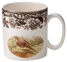 Spode Woodland Pheasant/Red Grouse Mug 9 oz. (Set of 4)