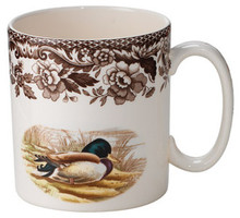 Spode Woodland Mallard/Wood Duck Mug 9 oz. (Set of 4)