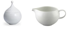 Rosenthal Magic Flute White Covered Sugar Bowl 8 3/4 oz. & Creamer 7 3/4 oz.
