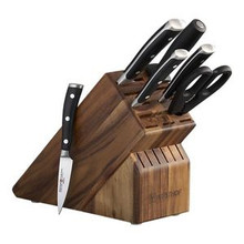 Wusthof Classic Ikon Seven Piece Set with Walnut Block