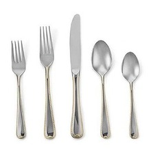 Gorham Stainless Steel Golden Ribbon Edge 5 Piece Place Setting