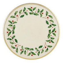"Lenox Holiday Dinner Plate 10 1/2"" Set of 4"