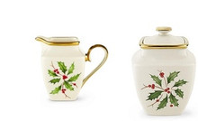 Lenox Holiday Square Sugar Bowl & Square Creamer