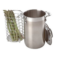 Asparagus Pot w/Lid (Stainless/Aluminum Disc Bottom)