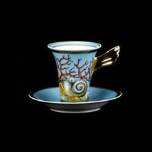 Versace Les Tresors de la Mer SPECIAL IMPORT After Dinner Cup & Saucer