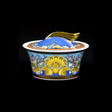 Versace Les Tresors de la Mer Covered Sugar Bowl, 7oz.