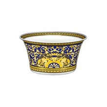 Versace Medusa Blue Open Vegetable Bowl 115 Oz