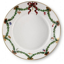 "Royal Copenhagen Star Fluted Christmas Salad/Dessert Plate 8.5"" (2503622)"